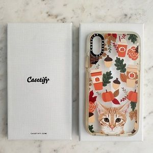 Casetify iPhone X Pumpkin Latte Fall Cat Autumn